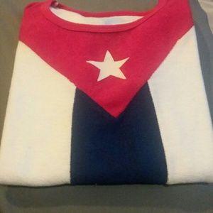Tops - Towel material Cuba flag shirt